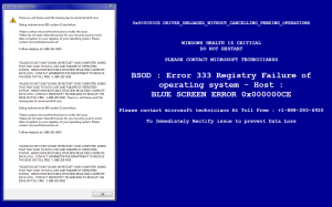 bluescreen popup 2